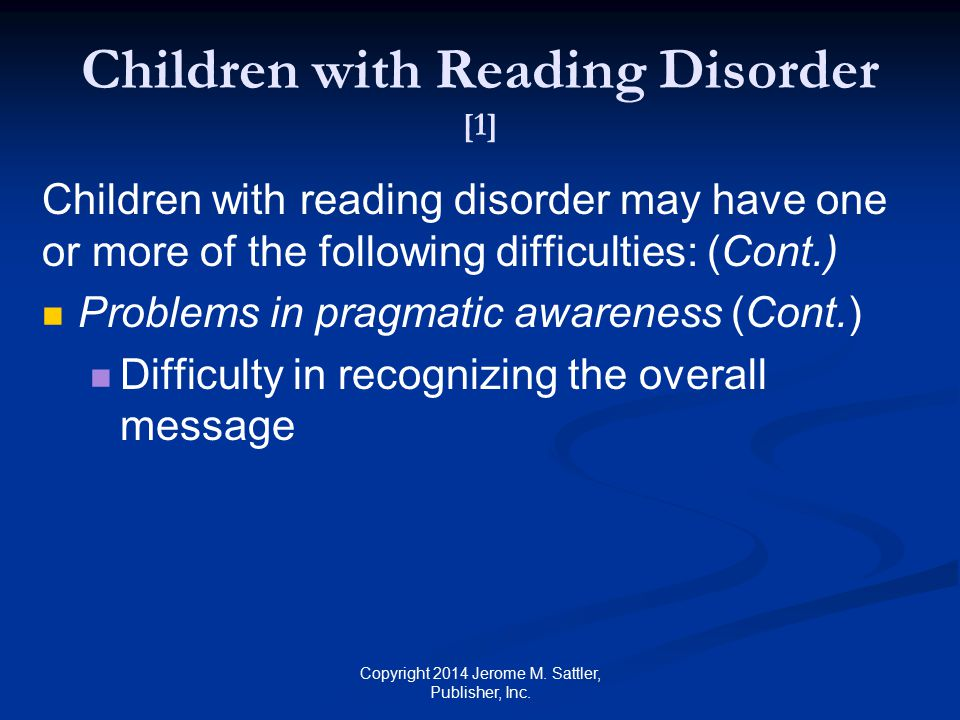 Children with Reading Disorder [1]